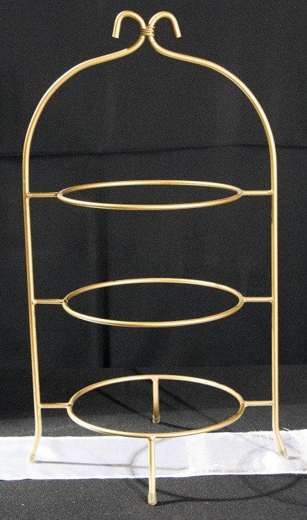 Gold 3 Tier Plate holder