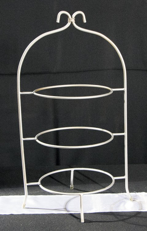 Silver 3 Tier Plate holder