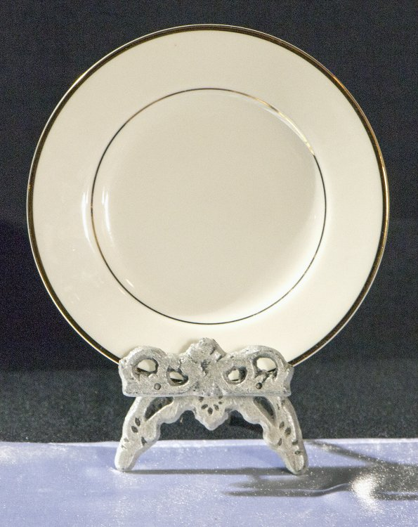 "Small20Ivory20Plate20with20Gold20Trim 1601667385 big - Diplomat 6"" Bread/Butter Plate"