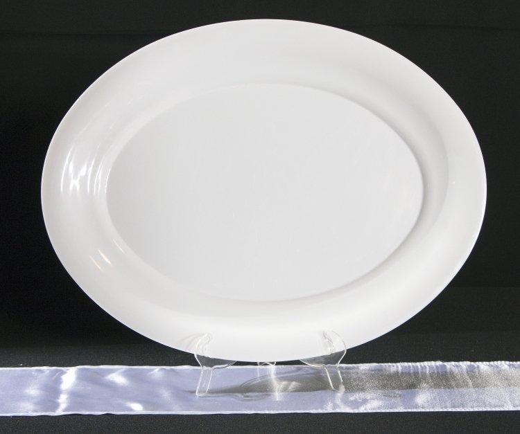 White oval platter 11 x 16