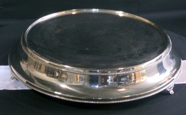 Cake Stand Smooth Silver Plated