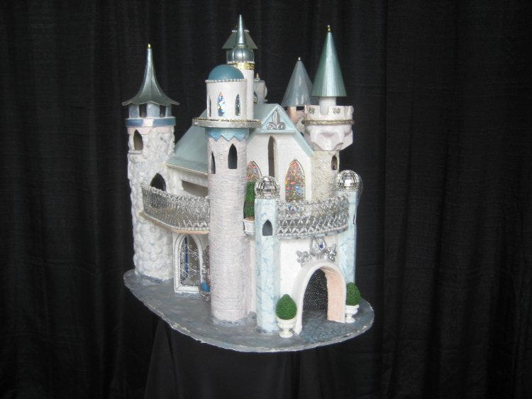 Castle card holder
