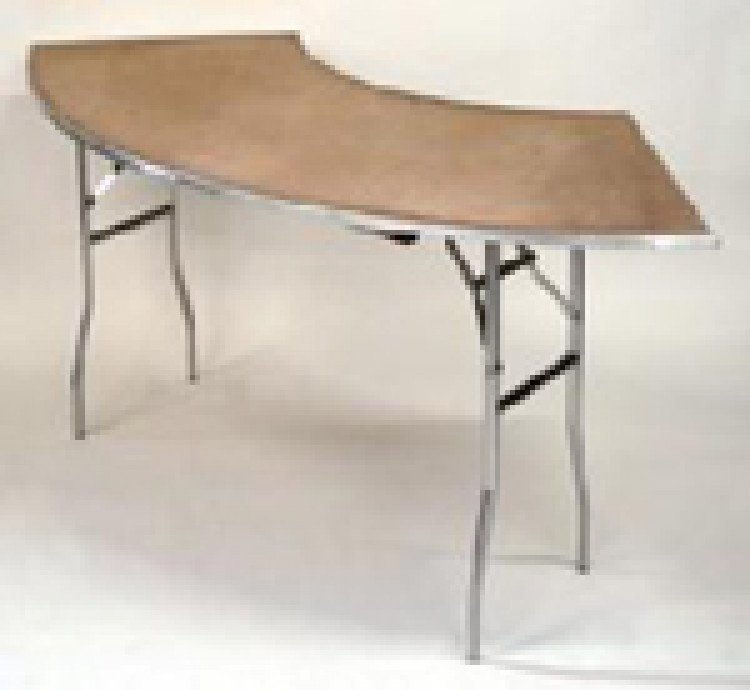 Serpentine Wood Top Table