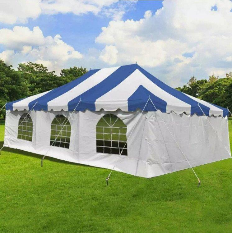 Tent White Window Sidewalls 20' x 7' Talll