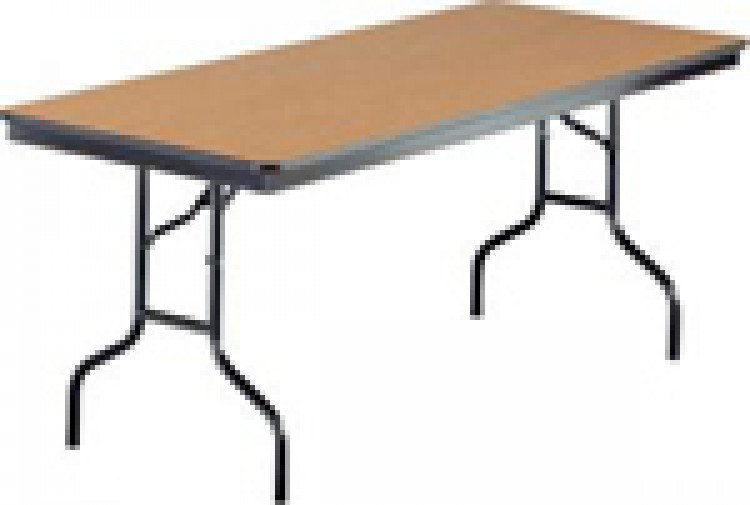 - Rectangle Wood Top Table 8'x30""