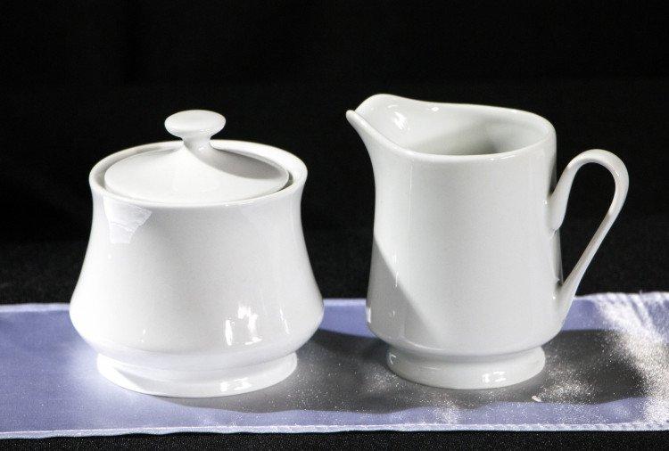 White Creamer & Sugar Set