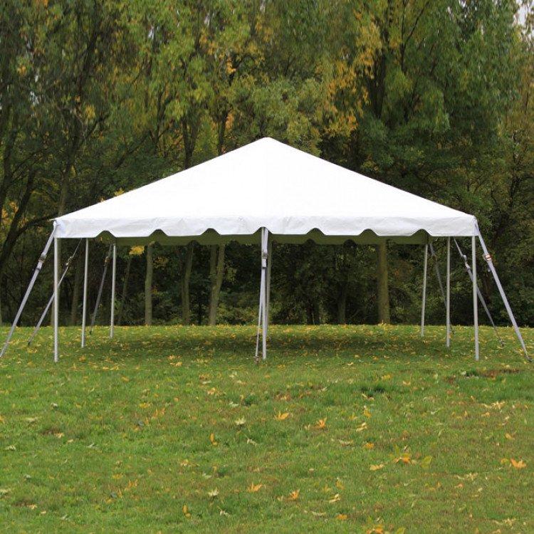 20' x  20' White Frame Tent