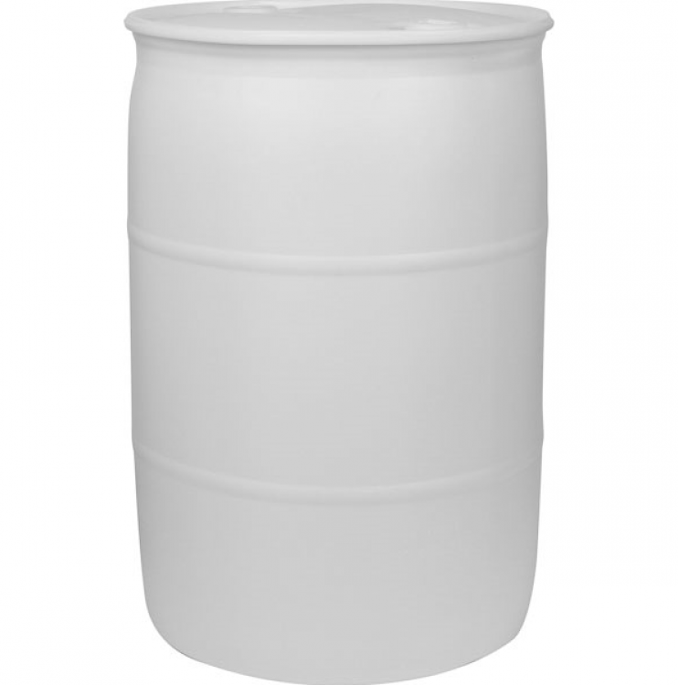 55 Gallon Water Barrels for Tents White