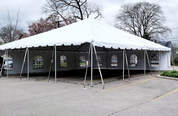 40' X 40' Frame Tent White