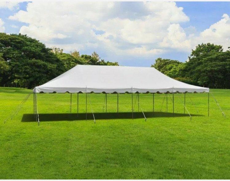 20x40 White Pole Tent