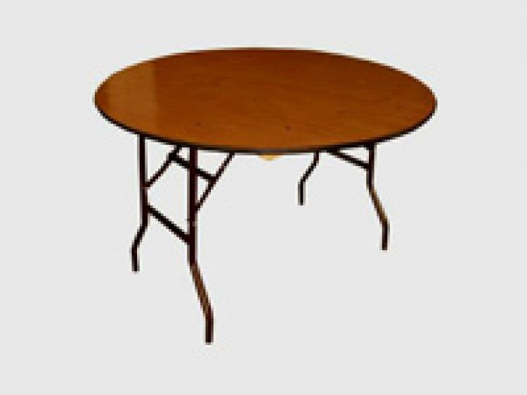 Round Wood Top Table 72