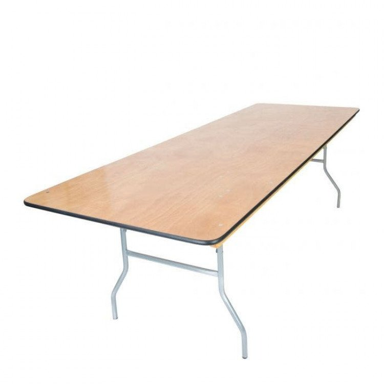 8' x 48 Rectangle Wood Top Kings Table
