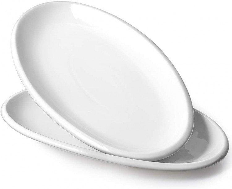 8 x 14 White Porcelain Serving Platter