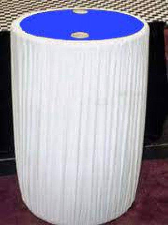 Water Barrel 55 Gallon Cover White