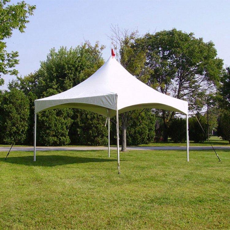 15' x 15' White High Peak Frame Tent